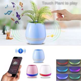 🔥🔥🔥 SHOPGD - Smart Musical Flowerpot - Bluetooth Speaker with LED Light. Flower / Plant Not Included.