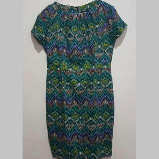 Green Tribal Executive Dress