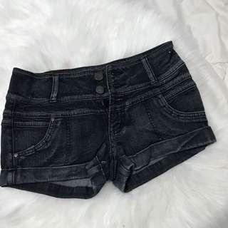 Black Denim Short