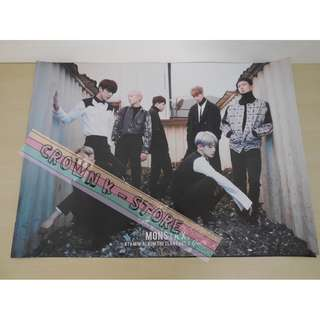 [READY STOCK]MONSTA X KOREA 4TH MINI OFFICIAL POSTER SHIP USING TUBE(PLEASE READ DETAILS FOR MORE INFO)