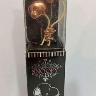 Snoopy Stereo Earphones Japan