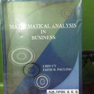 MATHEMATICAL ANALYSIS IN BUSINESS