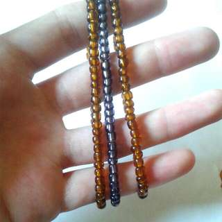 Glass Bead Bracelet Trio