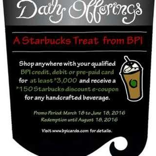 Starbucks E-COUPONS