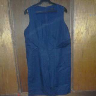 🔴COS Navy Blue Dress with Pockets (38/XL)