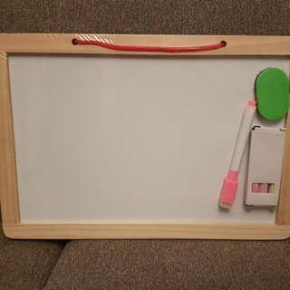 Whiteboard with Numbers & Letters