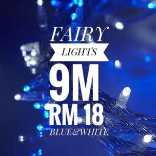 9.5M Blue& white Fairy Light
