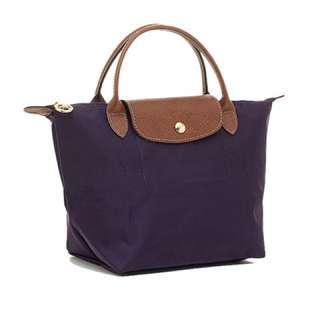 Longchamp Le Pliage Large Tote In Bilberry
