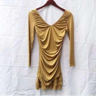 DIOR ORIGINAL Mini Gold Dress
