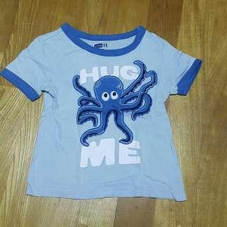 crazy 8章魚T恤男童短袖上衣