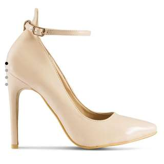 Ankle Straps Nude Pumps