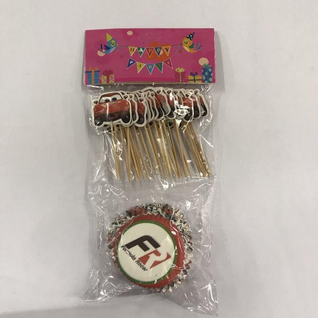 24pcs Cars Cupcake Liner w/ Toothpick