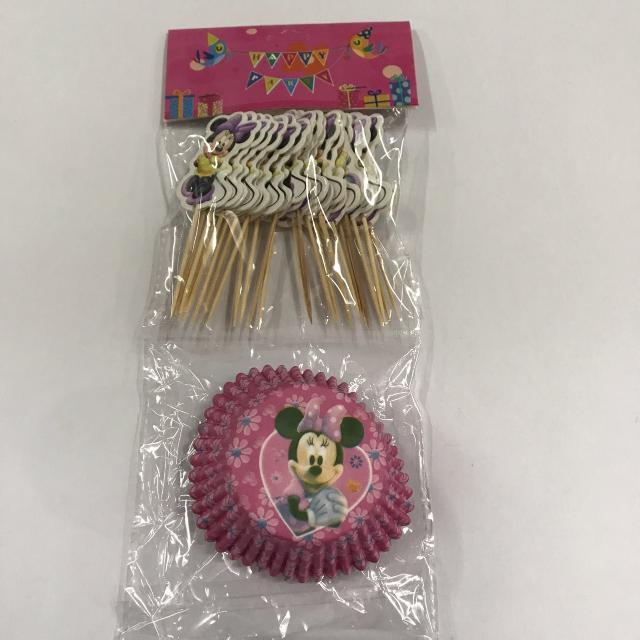 24pcs Minnie Cupcake Liner w/ Toothpick
