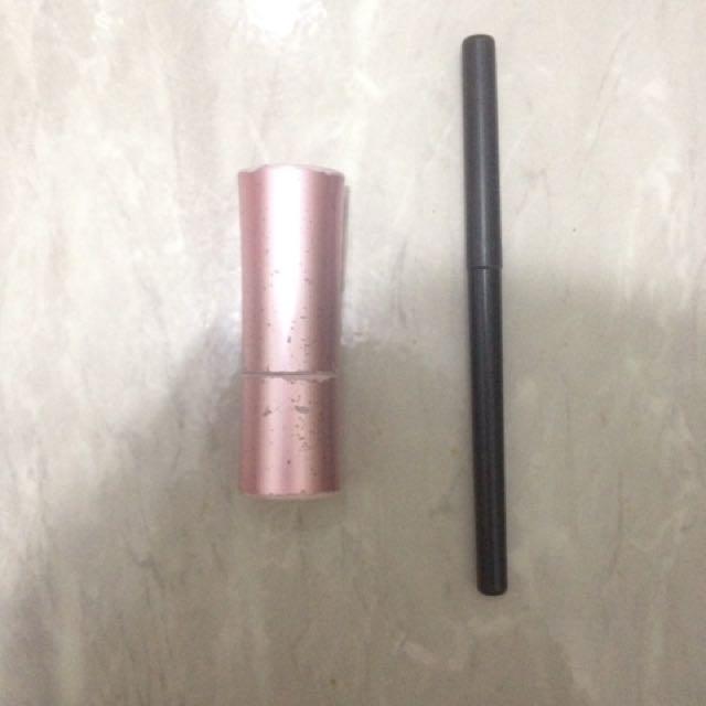 2in1 eyeliner marbeline & viva lipstick