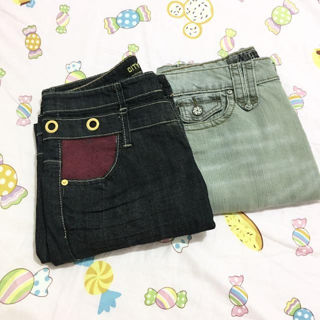 兩件牛仔褲