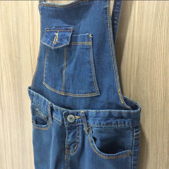 轉售😢細肩帶 吊帶褲 牛仔褲