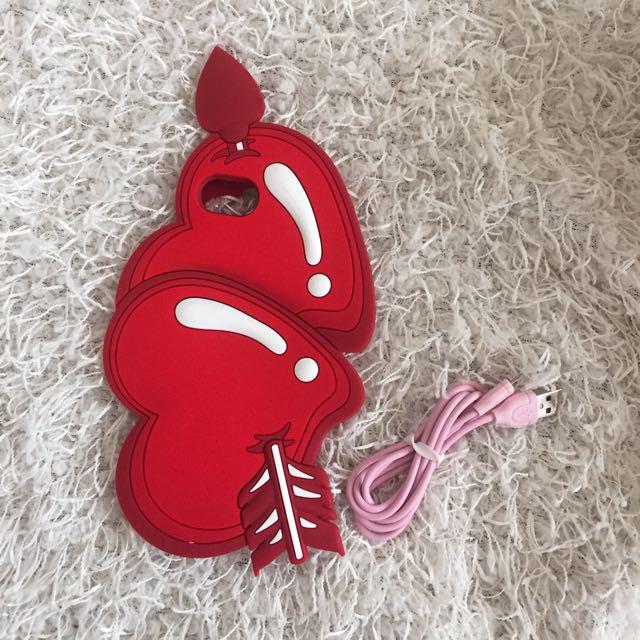 紅色心型手機殼 Iphone6