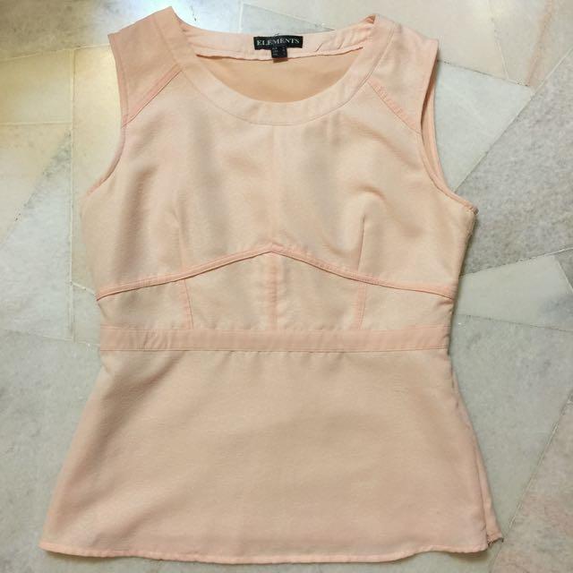 💟 Sleeveless Pink Blouse Top