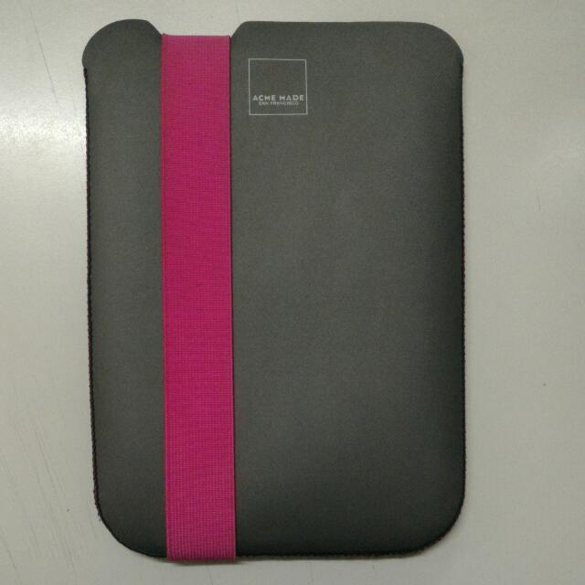 Acme Made Skinny Sleeve for iPad, Grey/Pink