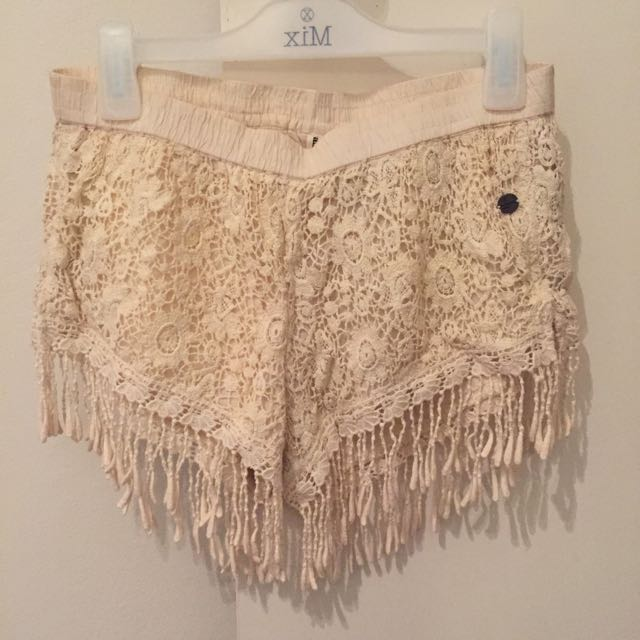 All About Eve Lace Shorts With Tassels