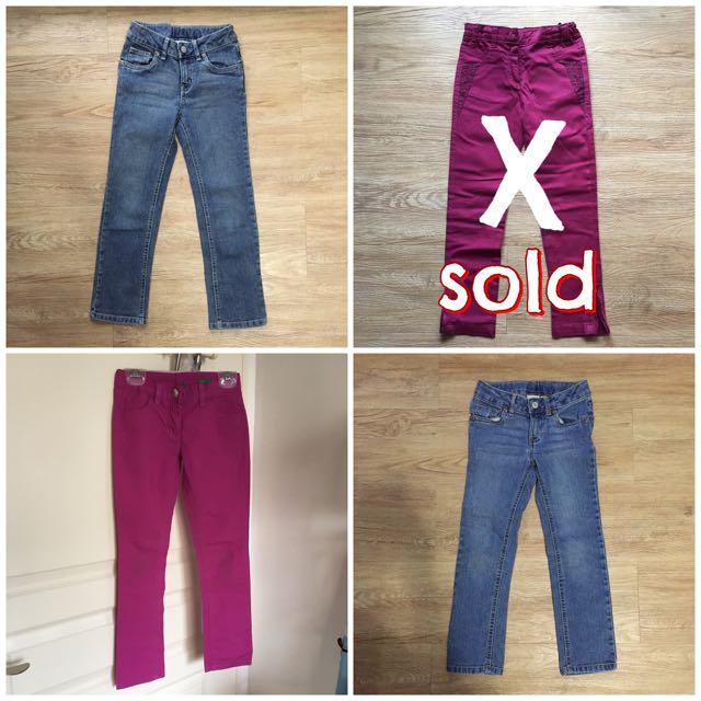 Assorted Pants 6-7 yo