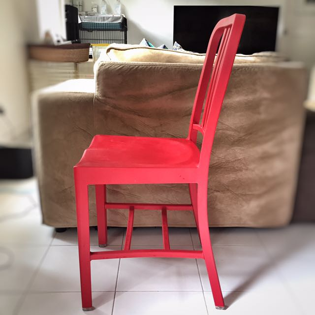 Authentic Emeco 111 Navy Chair With Coca Cola, Furniture, Tables U0026 Chairs  On Carousell