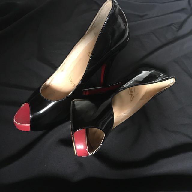 Authentic Loubuotin Peep Toe Heels