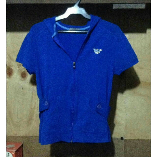Armani Exchange  short sleeved hoodie