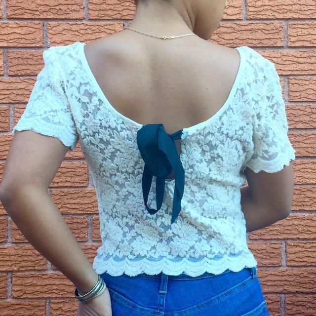 Bardot Lace Top