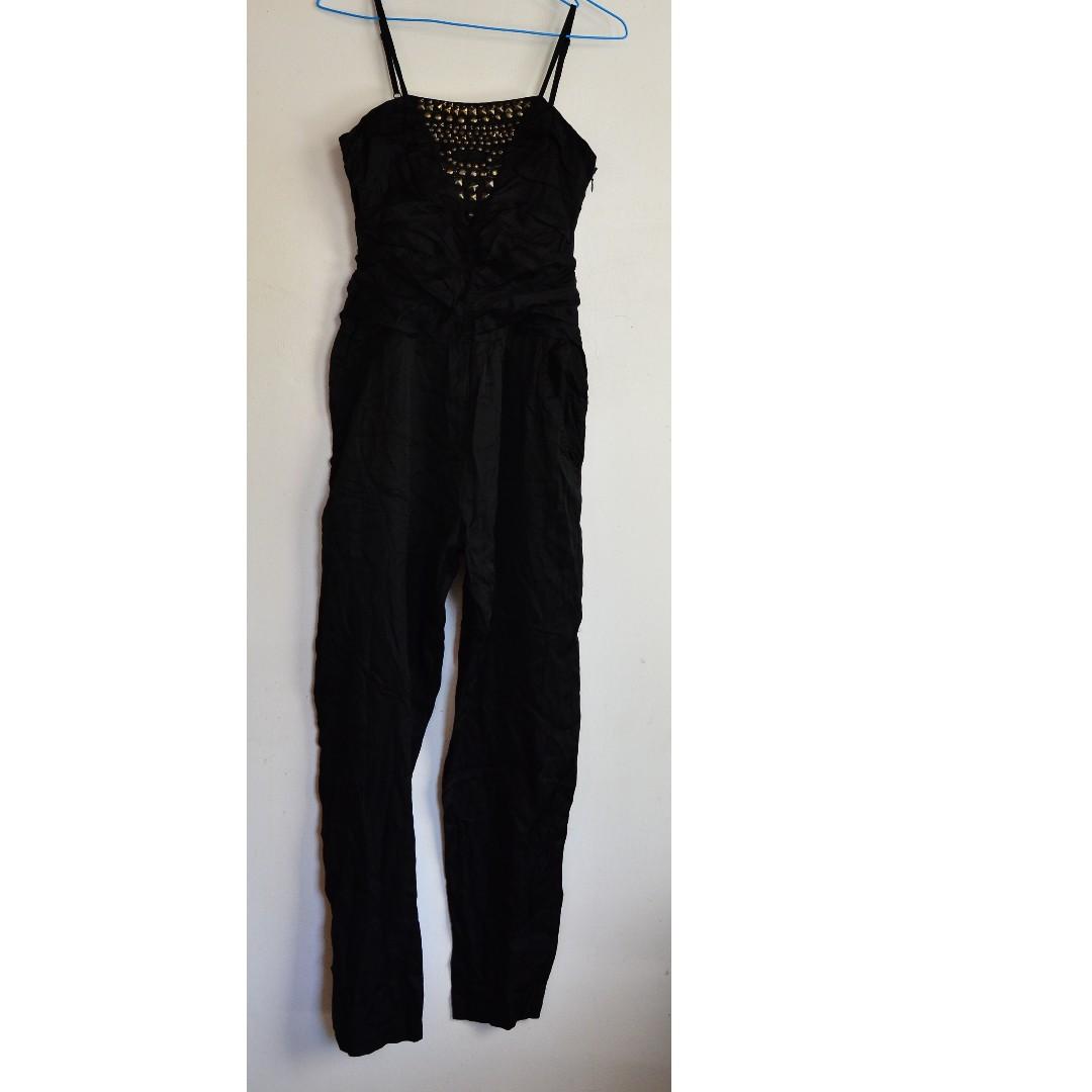 Beaded Black Jumpsuit