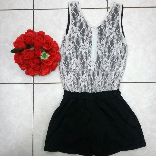 Black & White Romper