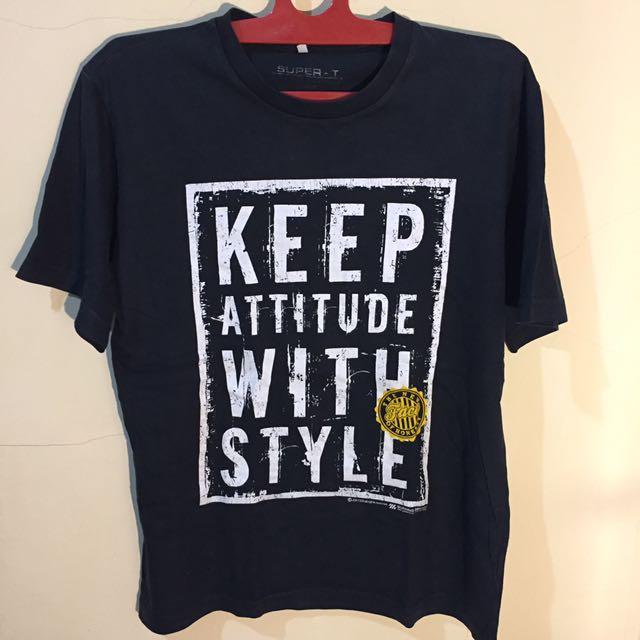 Black T-Shirt by Super - T