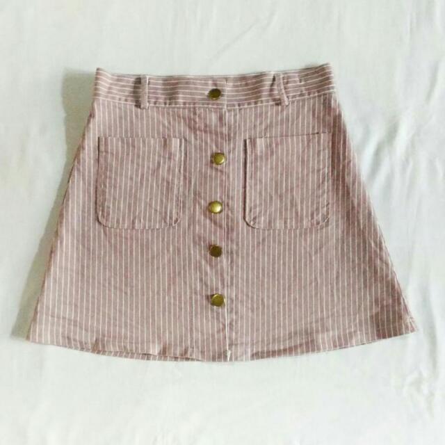 Blush Pink Buttondown Skirt