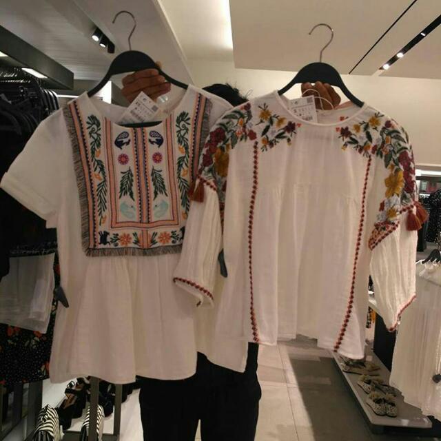 Boho White Blouse By Zara Women