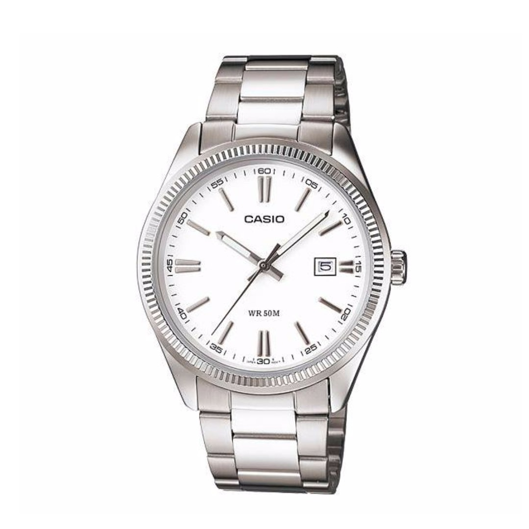 Casio MTP-1302D-7A1VDF Men's Watch Silver Strap