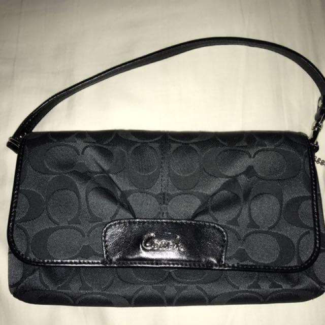 Coach Fabric Wristlet/wallet