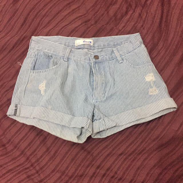 Cotton On Stripes Denim Shorts