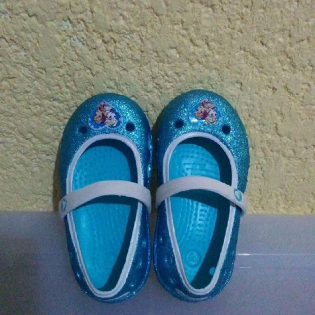 Crocs Glitter Frozen Toddler Shoes