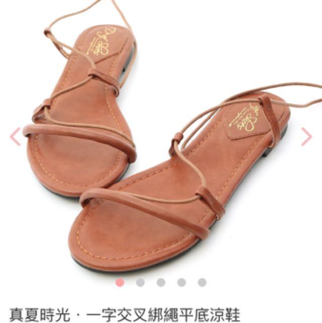 D+af 渡假風 綁帶涼鞋