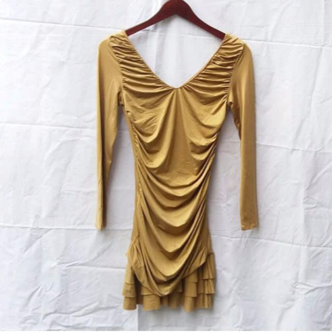 DIOR ORIGINAL Mini Gold Dress