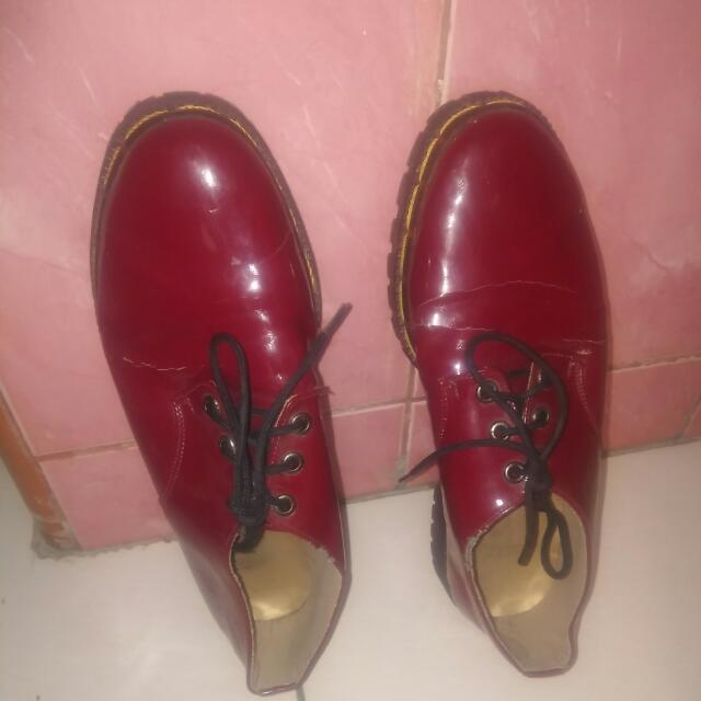 Docmart Maroon Shoes