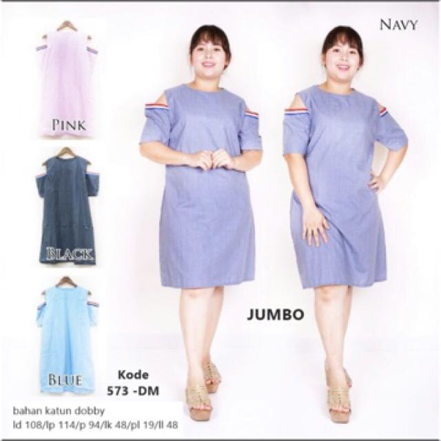 Dress Babol Dress Cut Out Jumbo Ukuran jumbo Bigsize