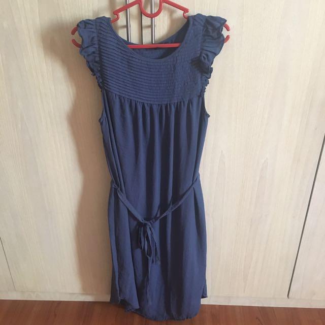 Dress H&M warna biru size 32