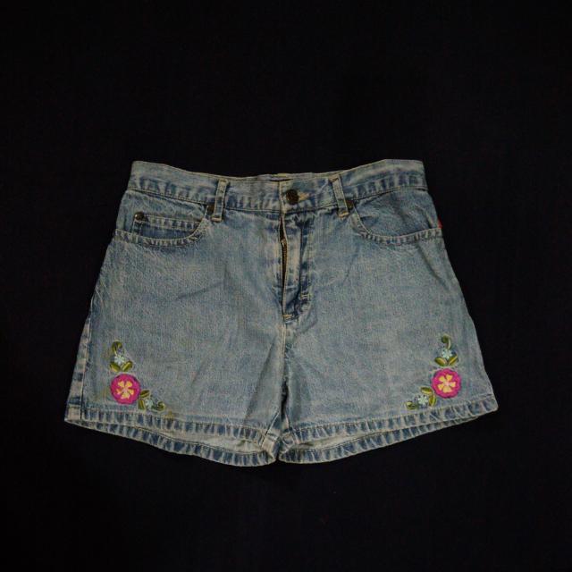 Esprit Denim Shorts With Flower Patches