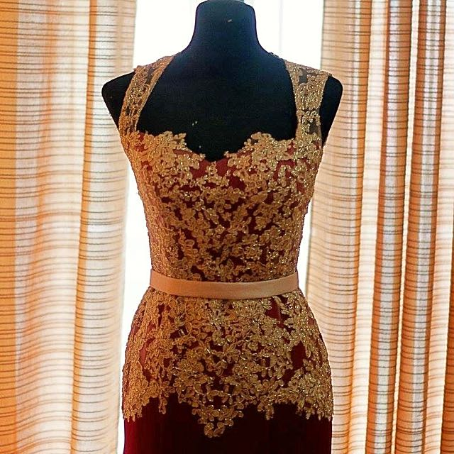 Evening Gown (Chiongsam) Designed By Elizabeth Haillie Vy