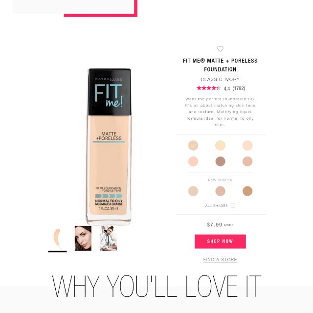Fit Me Foundations Maybelline