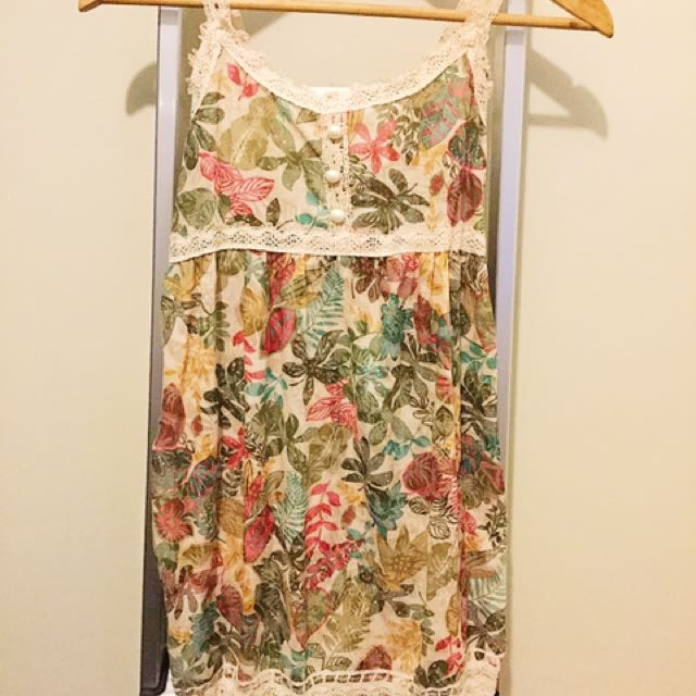 Floral Sparkly Dres
