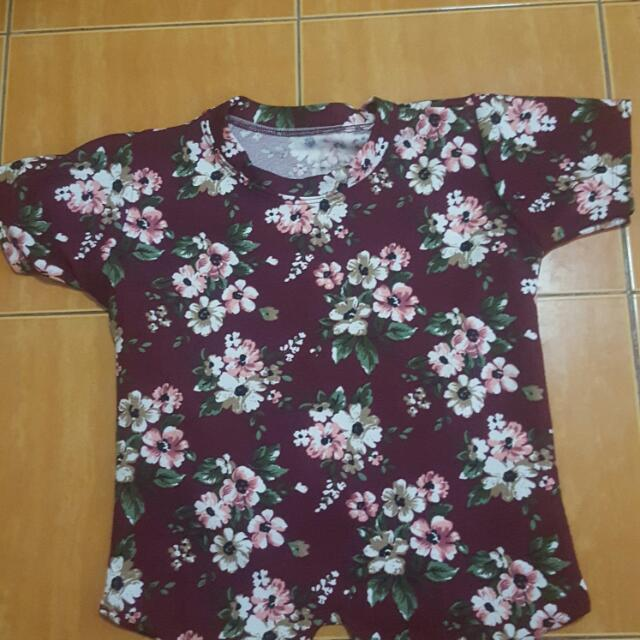 Floral Top Semi Crop