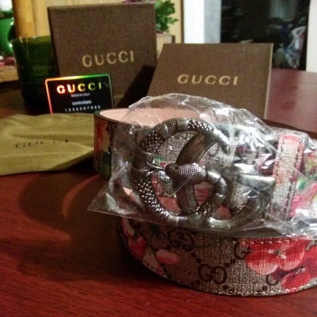 Flower Gucci Belt