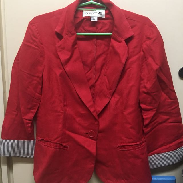 Forever 21 Red Jacket/Blazer SIZE S